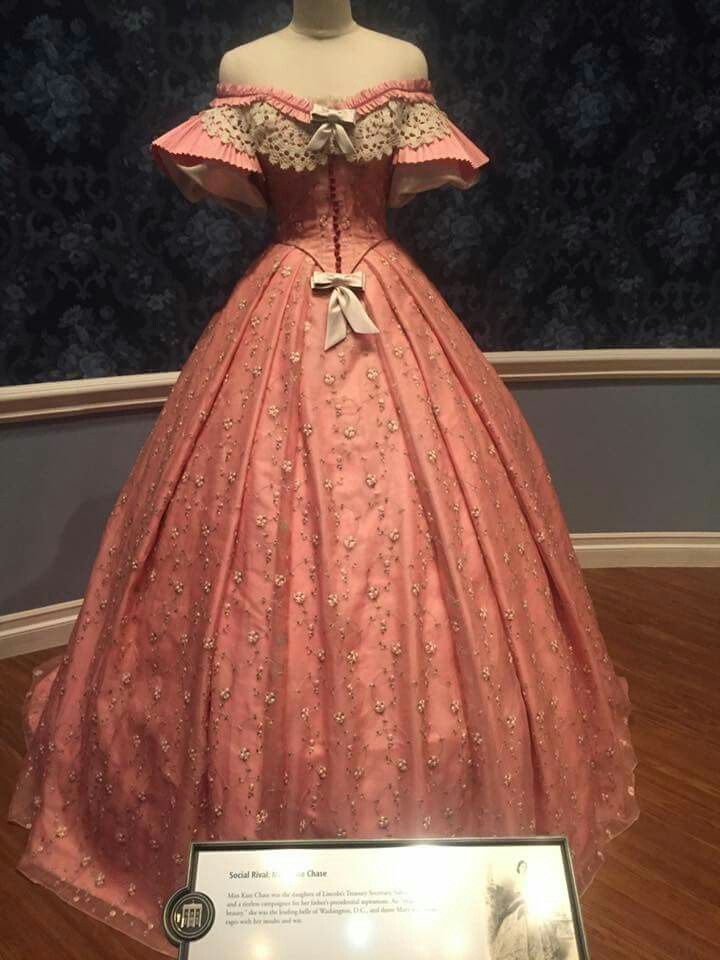 Mary Todd Lincoln  1850s. Sheer Dress Illinois museum.