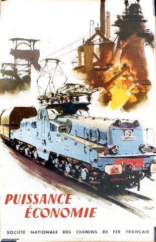Brenet puissance economie 1957 vintage train poster travelposters pinterest puissance - Sejour stijl industriel ...