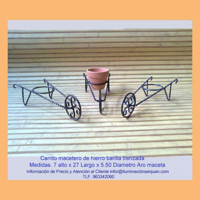 Jardineras de hierro forjado,decoración en forja.Valencia