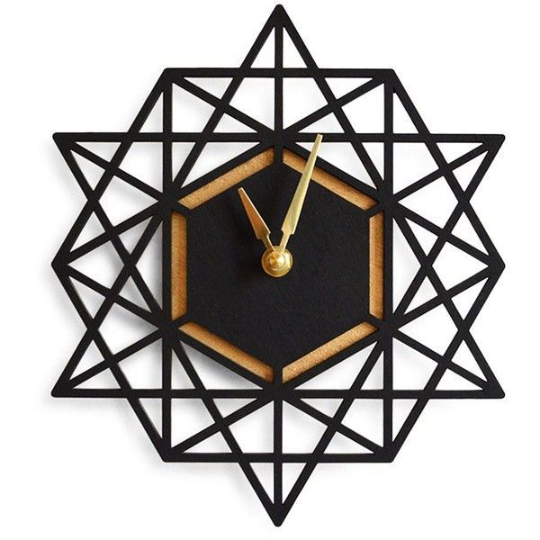 i love geometrics clean lines modern cool feel this clock