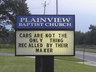 nice Funny Church Signs