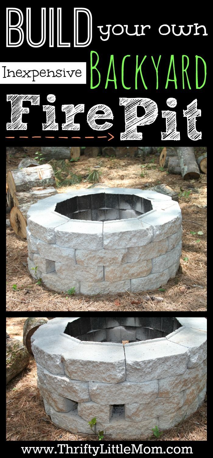 Build Your Own Inexpensive Backyard Fire Pit Tutorial. Step by step instructions for creating your own backyard firepit for less than $75.