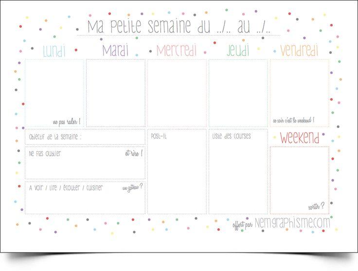 - DIY - Le semainier printanier 2013 à imprimer - NemGraphisme