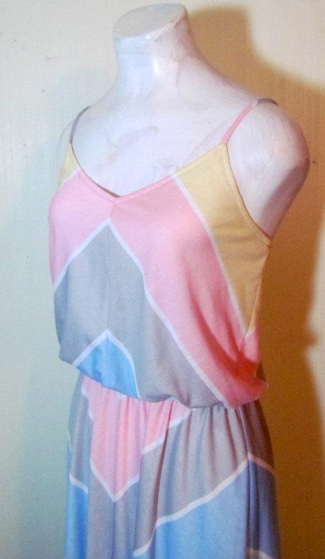 Adorable 1970's Pastel Striped Soft Cotton by BeauMondeVintage, $38.00