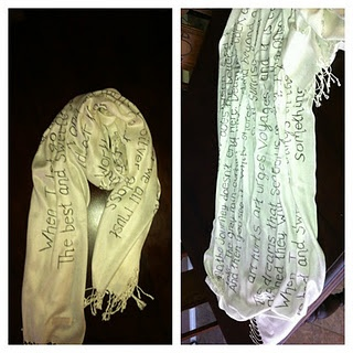 My DIY Quote scarf!