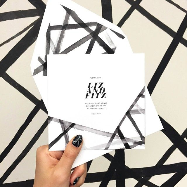 """We loved this @kellywearstler invite so much, we wallpapered to match."""