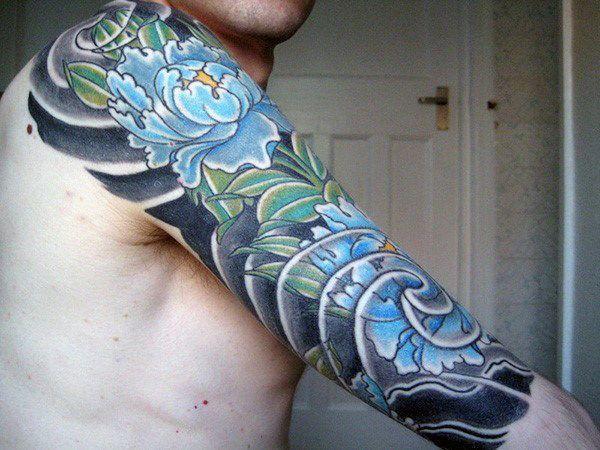 Japanese Guys Half Sleeve Tattoo Creative Tattoo Sleeves