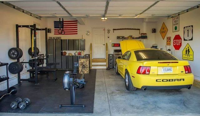 Rogue equipped garage gyms gym ideas