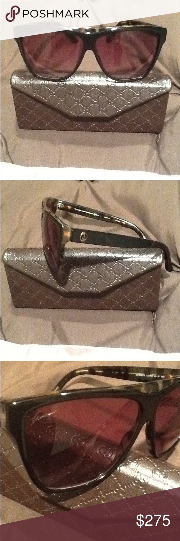Gucci sunglasses Tortoise color case and cleaning cloth Gucci Accessories Sunglasses
