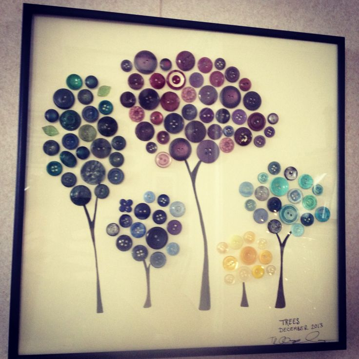 Colorful Button Tree Wall Art Picture Collection - Wall Art Design ...