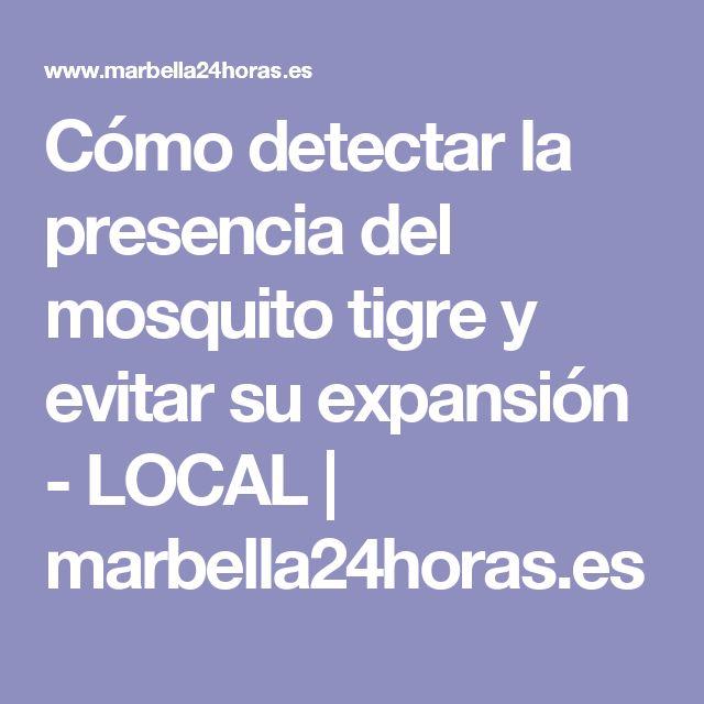 Cómo detectar la presencia del mosquito tigre y evitar su expansión - LOCAL   marbella24horas.es
