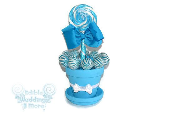 Medium Light Blue Lollipop Centerpiece Blue by EdibleWeddings, $19.99