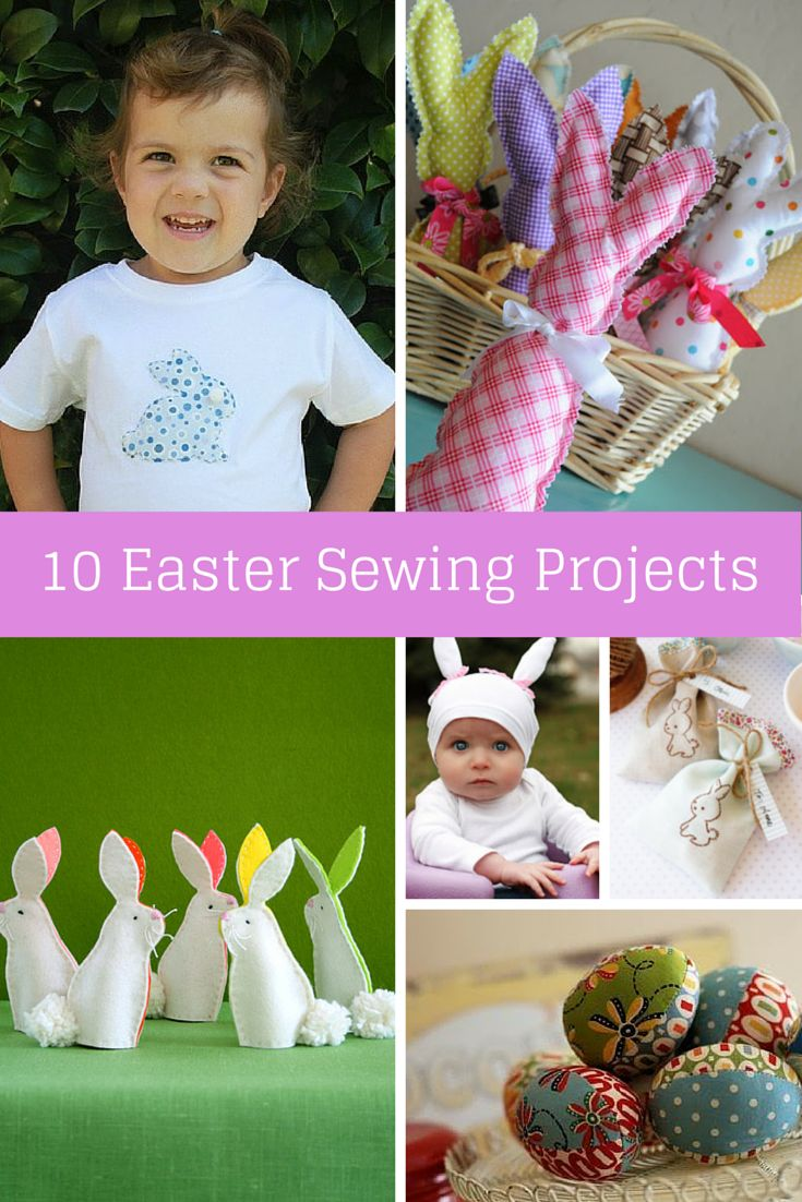 355 best easter images on pinterest easter ideas easter crafts sew delicious ten easter sewing projects negle Image collections