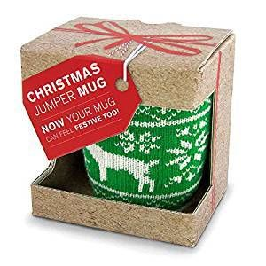 Novelty Christmas Jumper Mug, knitted Cosy