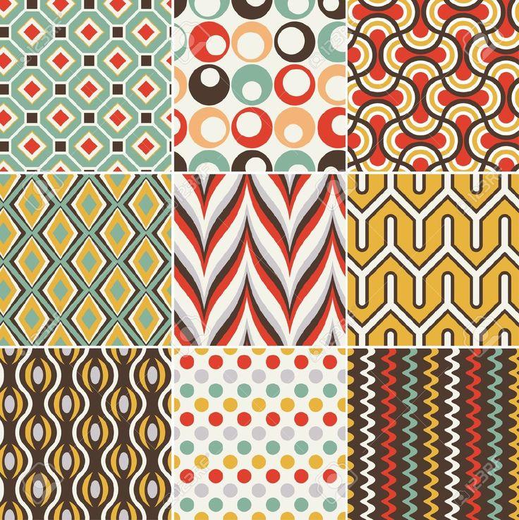 원활한 복고풍 기하학적 인 패턴 로열티 무료 사진, 그림, 이미지 그리고 스톡포토그래피. Image 19604736.
