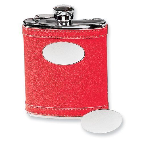 Stainless Steel Faux Leather Red Flask Jewelry Adviser Gifts. $31.25. Save 60% Off!