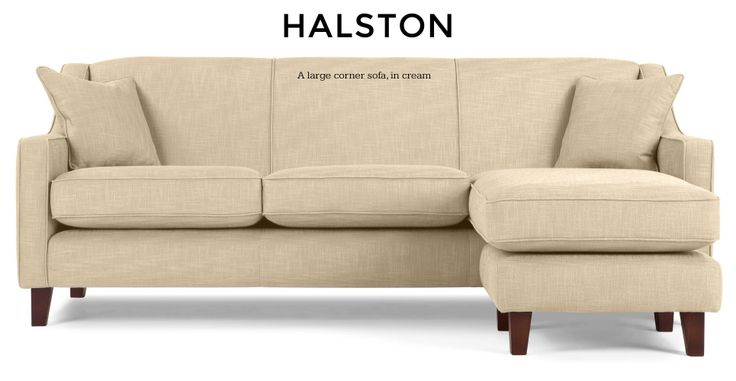 Halston Large Corner Sofa in cream | made.com
