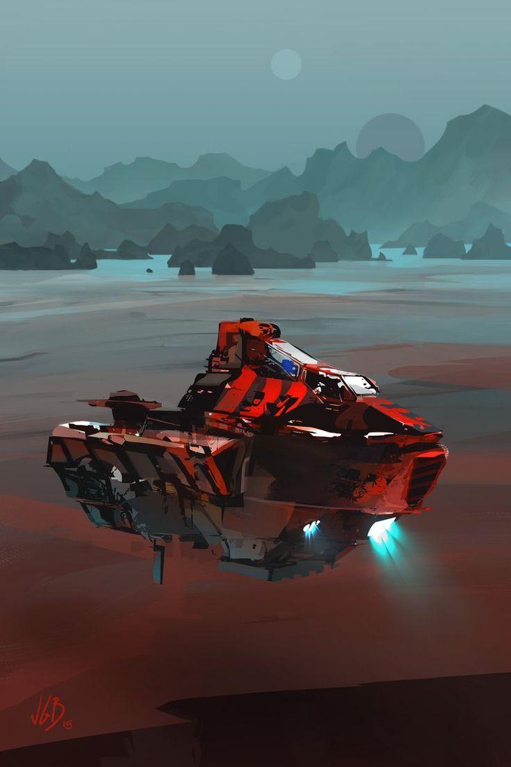 Sci-fi Spaceships — roguetelemetry: (via ArtStation ...