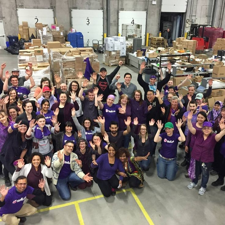 The Well.ca warehouse team having a #purpleday for #epilepsy awareness this past March.