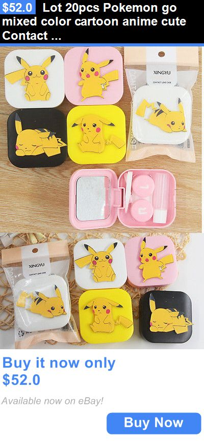 Contact Lens Cases: Lot 20Pcs Pokemon Go Mixed Color Cartoon Anime Cute Contact Lenses Box Girl Gift BUY IT NOW ONLY: $52.0