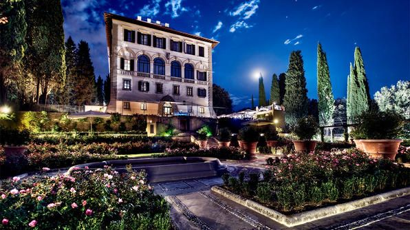 Dreaming of an Italian fairy-tale wedding that rivals George Clooney's and Kim Kardashian's? Tie the knot at Il Salviatino, an exquisitely restored 15th-century villa on the hillside of Fiesole, a town 15 minutes from Florence's city center. Exchange your vows in the enchanting Italian-style gardens against the sparkling scenery of Florence's city lights and a view of the iconic Il Duomo di Firenze.