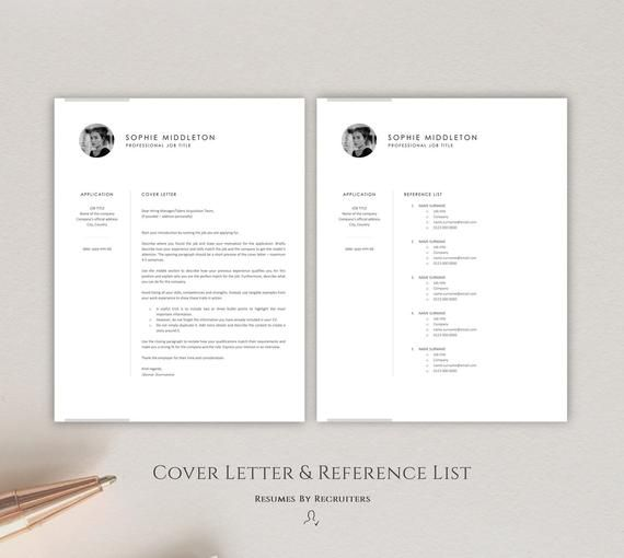 Resume Template With Photo Instant Download Resume Modern Cv Etsy Resume Template Download Resume Creative Jobs