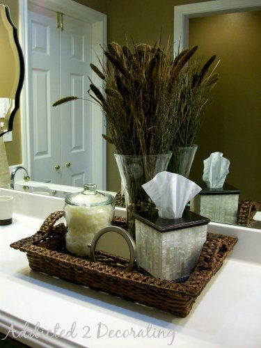 Best Bathroom Counter Decor Ideas On Pinterest Bathroom - Small bathroom vanities with tops for bathroom decor ideas
