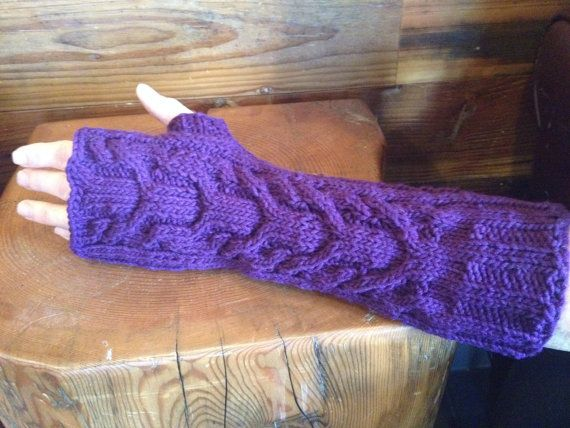 Arm Warmers/Fingerless Gloves by PhoenixKnitwear on Etsy
