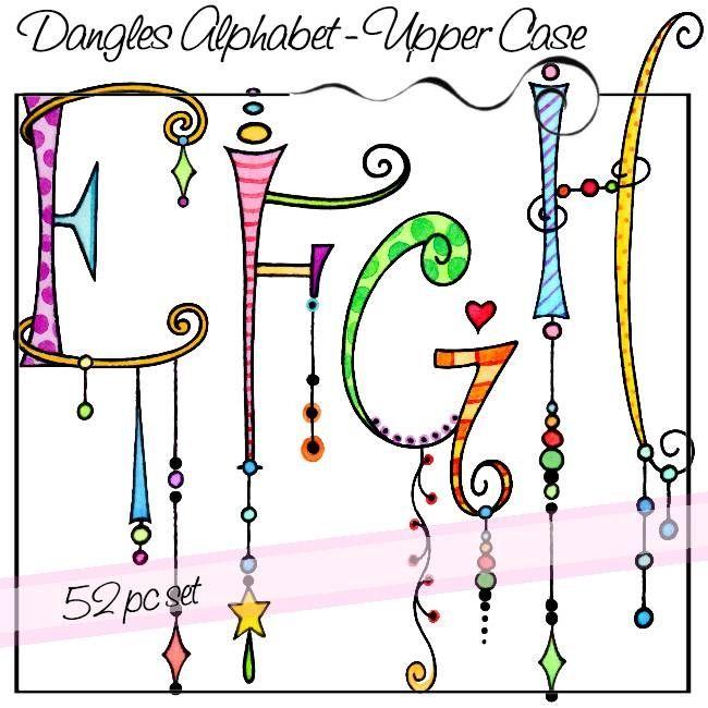 Dangles Alphabet – Upper Case