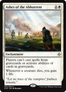 Ashes of the Abhorrent card price from Ixalan (XLN) for Magic: the Gathering (MTG) and Magic Online (MTGO).