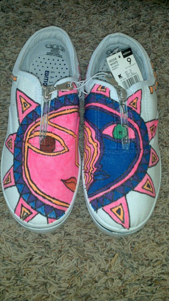 Womens  Aztec Zip Up's shoes by gulyasguycustomkicks on Etsy, $30.00