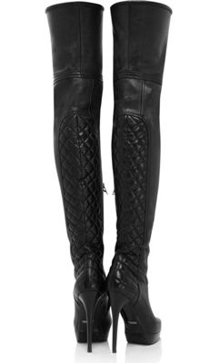 Burberry Nappa Leather Thigh-High Boots, $1,495 Net-a-Porter; Oh, my, yes.