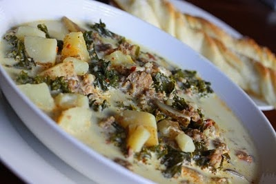 olive gardens zuppa toscana: see you on sunday, mothaflippa. although it's going to be an hour and 45 minute drive.