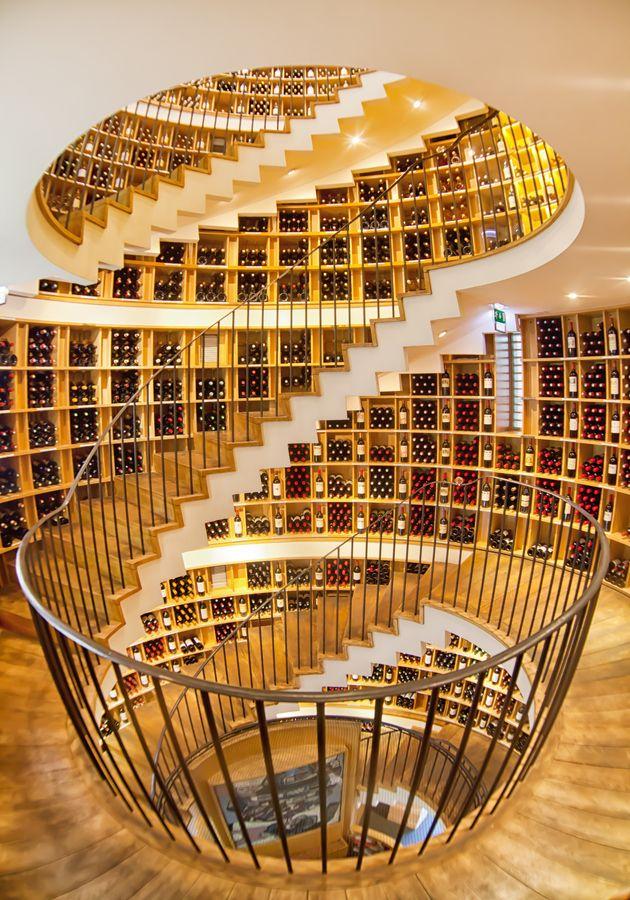 Extraordinary architecture in L'Intendant Wine Shop, Bordeaux, Gironde, Aquitane, France, - WOW!!!