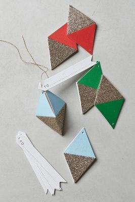 glitter diamond gift tags #holiday #giftwrap