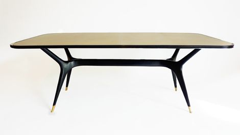 Rupert Bevan - Commissions - Ebonised Coffee Table with Vellum
