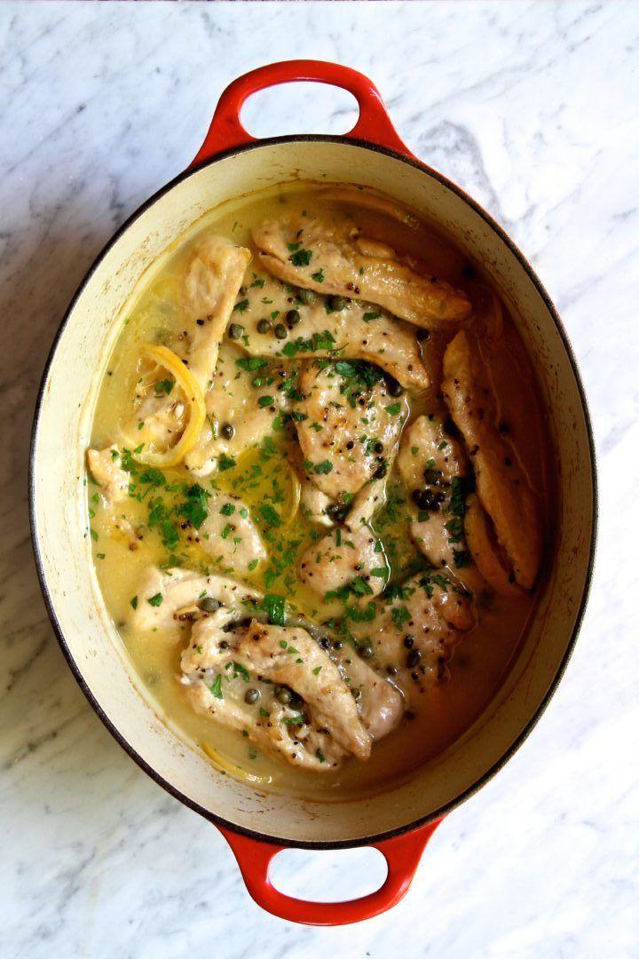 Paleo Oven Baked Creamy Lemon-Caper Chicken