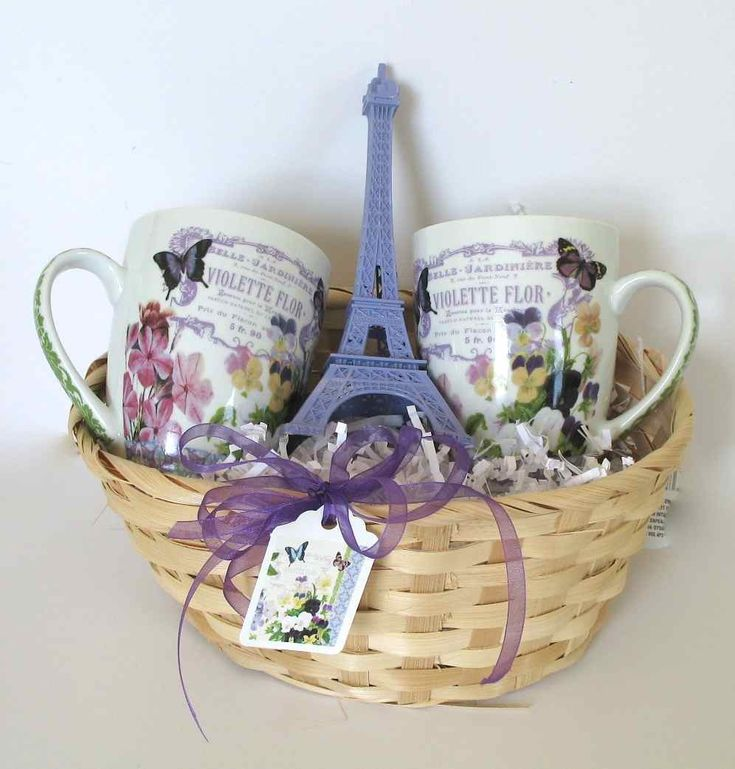 Wedding Themed Gift Basket : Wonderful Paris Theme Gift Basket, Violettes Flor, Vintage ...