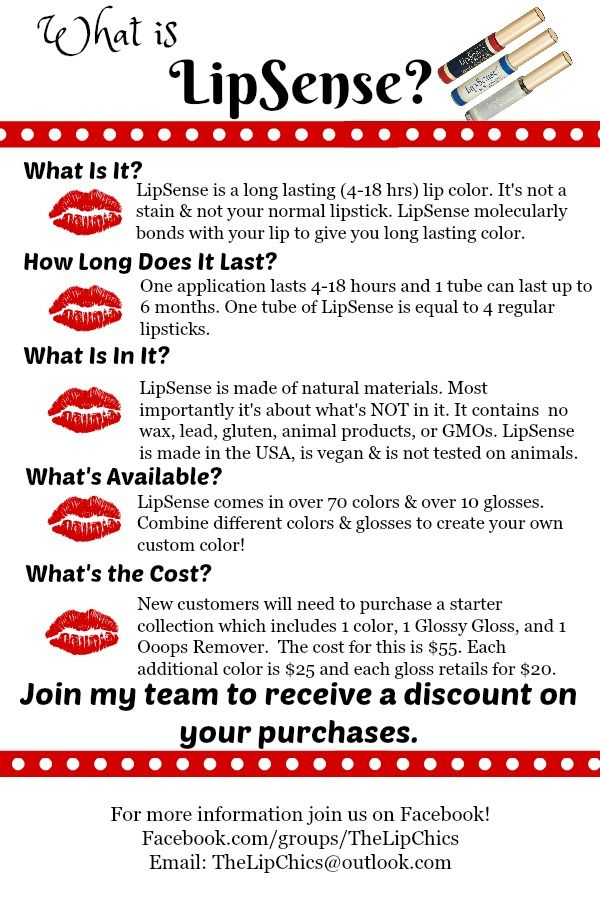 What Is LipSense? It's a long lasting lip color. Come join us on Facebook to learn more. Distributor ID#258188