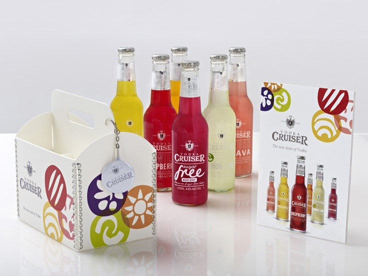 Vodka Cruiser - Kit contained custom designed perspex 6 pack, new product, press release and unique USB keyring