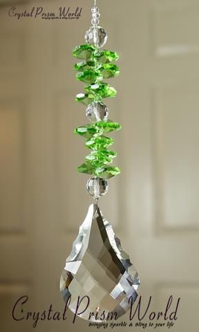 Window Crystals - Peridot Splash Suncatcher | Item #PW61QP