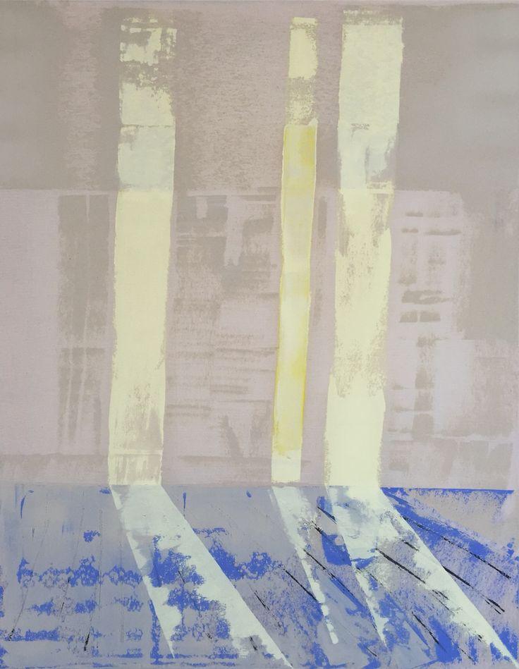 Lisette Schumacher Lucidus series 95x75cm 2015 Oil, ink and acrylic on canvas