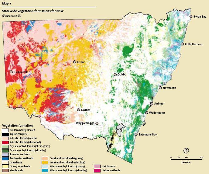 Vegetation Formation For New South Wales Australia Map Batemans Bay Vegetation Scheme and satellites photos view; pinterest