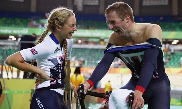 Britain's golden couple: Cyclist Laura Trott and  partner Jason Kenny