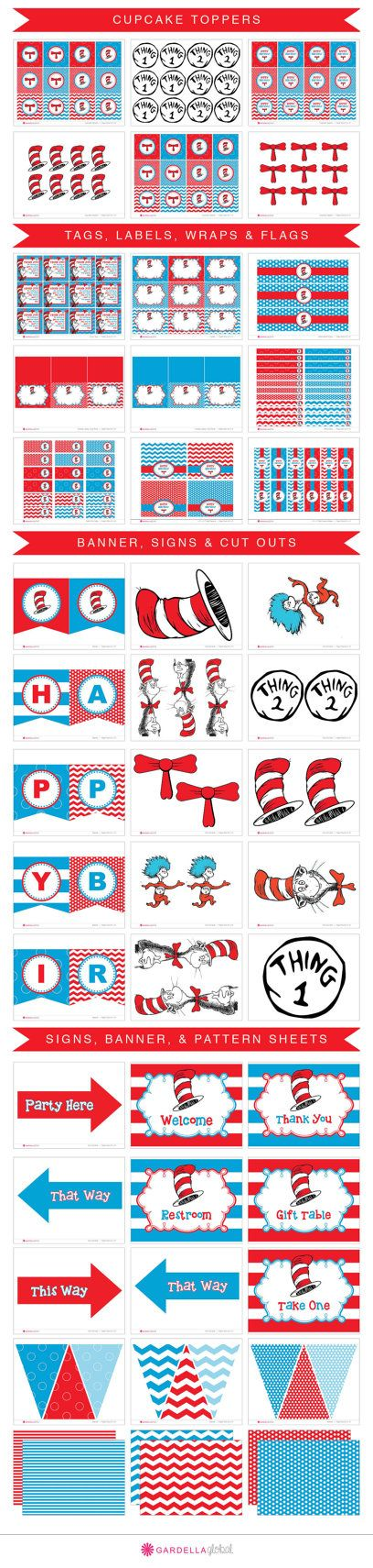 Cat In The Hat invitation Dr. Seuss invitation by GardellaGlobal