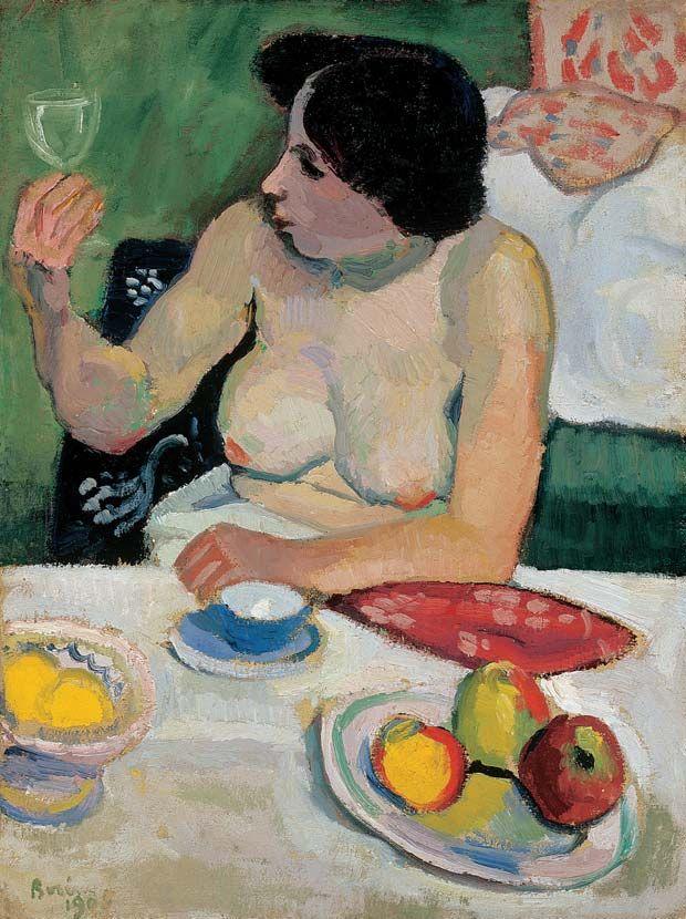 BERÉNY Róbert: Woman with Glass, 1905