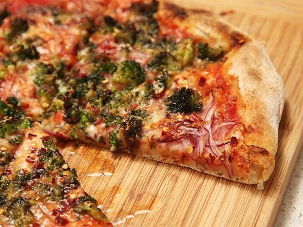 Caramelized Broccoli and Red Onion Pizza | Recipe