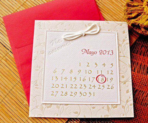 invitatie nunta, invitatie nunta calendar, invitatie nunta interesanta