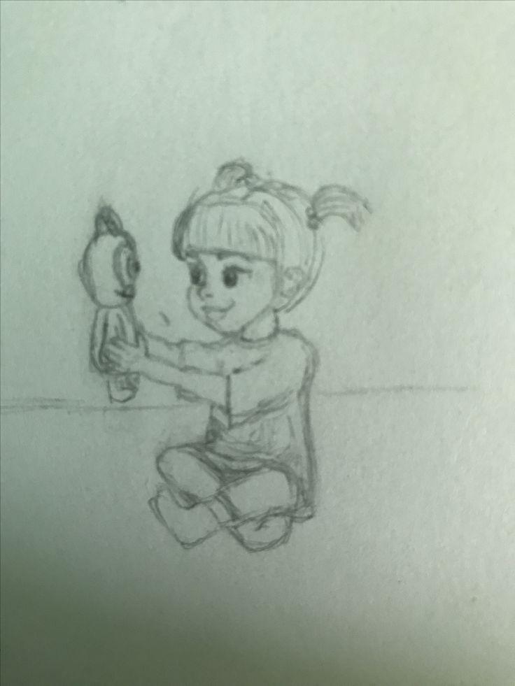 Boo Monsters inc , Disney drawing