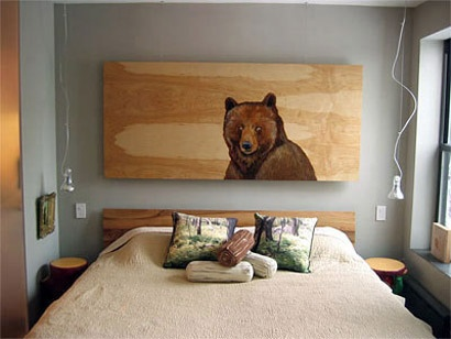 Bed headboards  art as headboard1